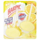 Harpic 2 citrus & hygienic cageless toilet blocks - 2x40g