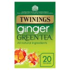 Twinings ginger green tea 20s - 40g Brand Price Match - Checked Tesco.com 01/07/2015