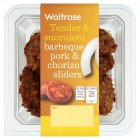 Waitrose BBQ pork & chorizo sliders 136g Introductory Offer
