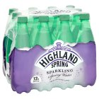 Highland Spring, spring sparkling water, 12 pack - 12x500ml Brand Price Match - Checked Tesco.com 23/04/2015