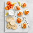 Waitrose smoked salmon blinis - 540g