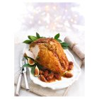 Turkey  Breast on the bone with a festive figgy pudding stuffing -