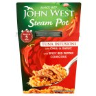 John West Steam Pot tuna infusions chilli & garlic with cous cous - 150g Brand Price Match - Checked Tesco.com 24/11/2014